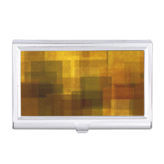 art vintage colorful abstract geometric business card holder
