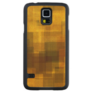 art vintage colorful abstract geometric carved maple galaxy s5 case