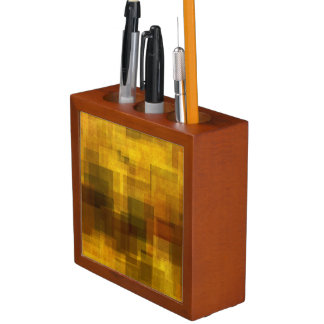 art vintage colorful abstract geometric desk organiser