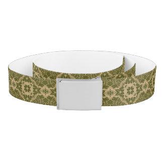 Art vintage damask pattern belt