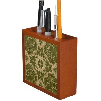 Art vintage damask pattern desk organiser