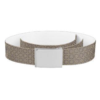 Art vintage damask pattern, golden belt