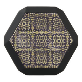 Art vintage damask pattern, golden black bluetooth speaker