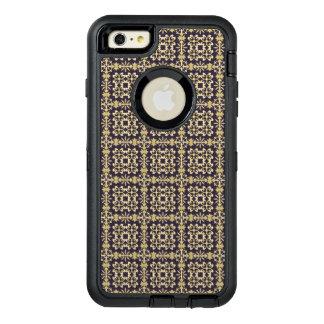 Art vintage damask pattern, golden OtterBox defender iPhone case