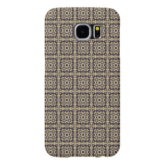 Art vintage damask pattern, golden samsung galaxy s6 cases