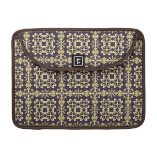 Art vintage damask pattern, golden sleeve for MacBook pro