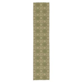 Art vintage damask pattern short table runner