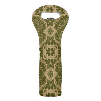 Art vintage damask pattern wine bag