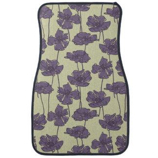 Art vintage floral pattern background car mat