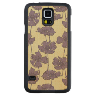 Art vintage floral pattern background carved maple galaxy s5 case