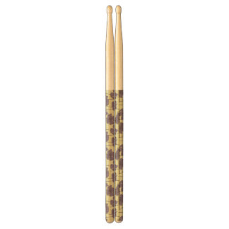 Art vintage floral pattern background drumsticks