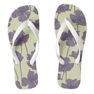 Art vintage floral pattern background flip flops