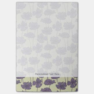 Art vintage floral pattern background post-it notes