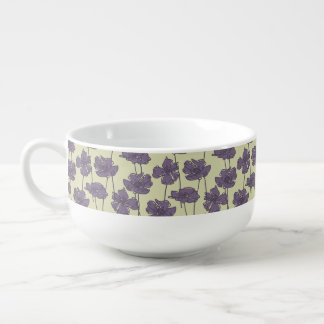 Art vintage floral pattern background soup mug