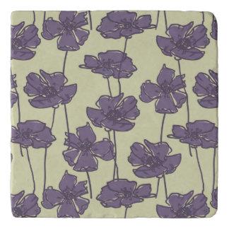 Art vintage floral pattern background trivet