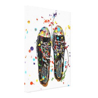 Art Walk Shoe Photography Canvas Print
