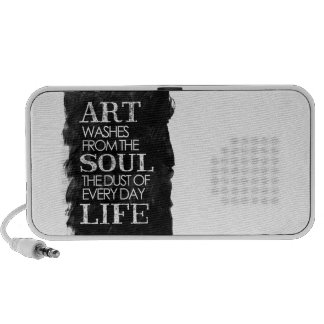 Art washes from the soul iPhone speakers