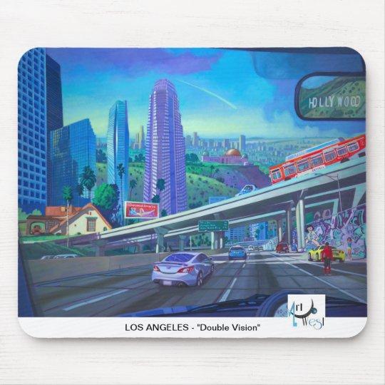 Art West MOUSEPAD - Los Angeles Double Vision