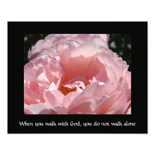Art when you walk with God you do not walk alone Photo