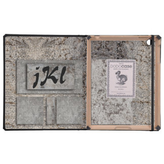 Art with Concrete & custom Monogram iPad Cases