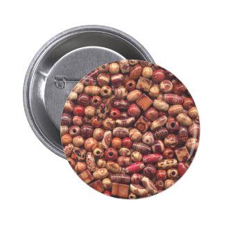 Art Wood Beads 6 Cm Round Badge
