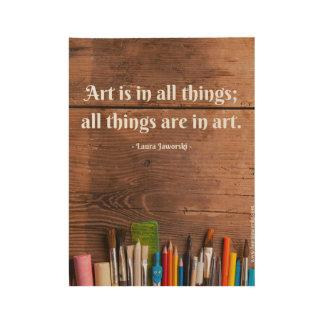 Art Wood Poster