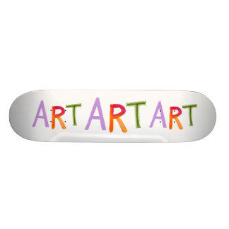 Art word fun colorful - for artists & works of art skateboard
