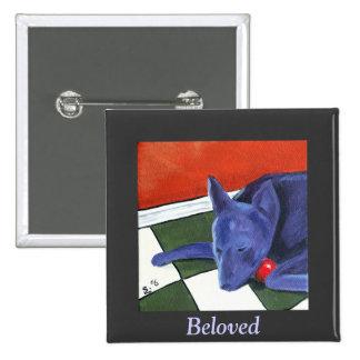 Artbyshel - Beloved 15 Cm Square Badge