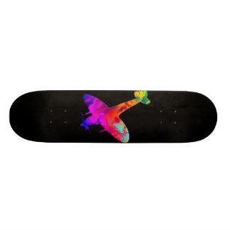 artdeck 5, spitfire black template 20 cm skateboard deck