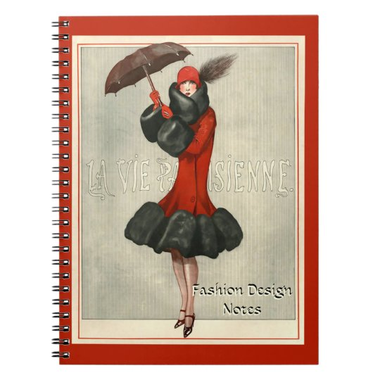 ArtDeco 20's Flapper/Fashion Illustration Notebook
