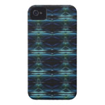artdeco in retro look green and blue iPhone 4 Case-Mate cases