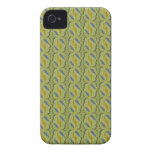 artdeco in retro look yellow green and blue iPhone 4 cases