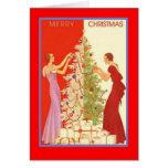 ArtDecoLadiesChristmas-GreetingCard Cards