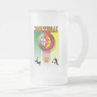 Arte e Futebol encontra - Futebol Portuês Frosted Glass Mug
