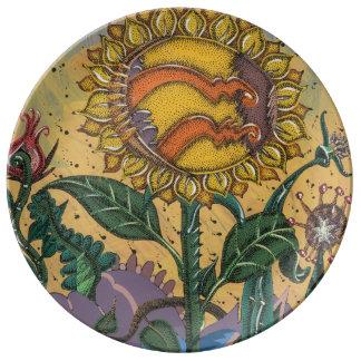 Arte in you cocina, cook art porcelain plates