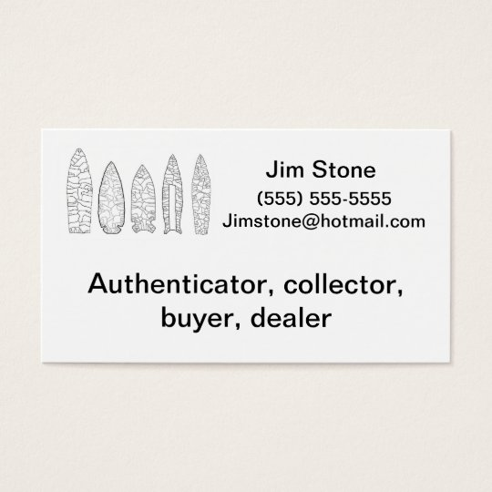 Artefact collector business card