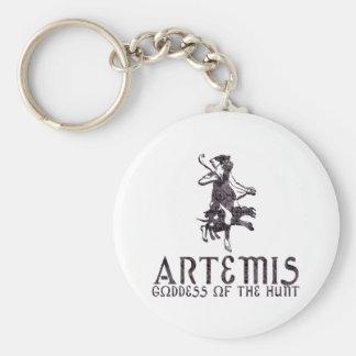 Artemis Basic Round Button Key Ring
