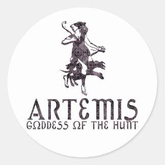 Artemis Round Sticker