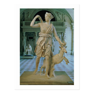 Artemis the Huntress, known as the 'Diana of Versa Postcard