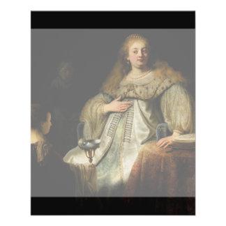 Artemisia by Rembrandt van Rijn Custom Flyer