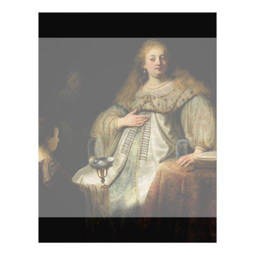 Artemisia by Rembrandt van Rijn Flyer Design