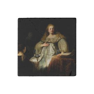 Artemisia by Rembrandt van Rijn Stone Magnet