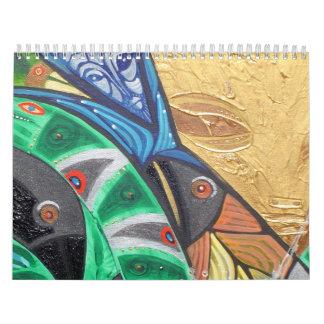 arteology new year wall calendar