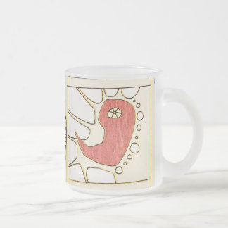 arteology sketches 1995 frosted glass mug