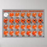 Artesia Bulldogs Football Helmet Poster