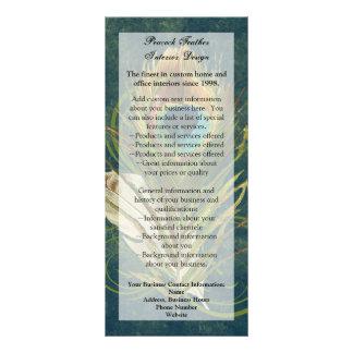 Artful Detail Peacock Feather Rack Card, Menu, Ad Rack Card