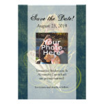 Artful Detail Peacock Wedding 5x7 Save the Date Invitations