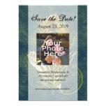 Artful Detail Peacock Wedding 5x7 Save the Date 13 Cm X 18 Cm Invitation Card