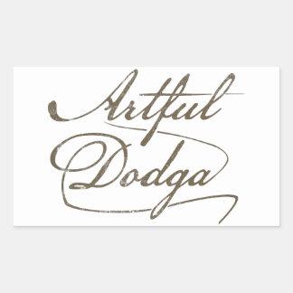 Artful Dodga Rectangular Sticker