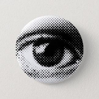 ARTFUL EYE round dot eyes vector 6 Cm Round Badge